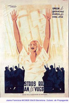Spain - 1937. - GC - poster - autor - Juana Francisca