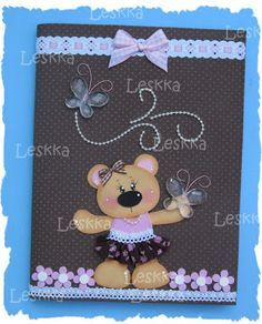 Carpet Runners Home Hardware Crafts To Sell, Diy And Crafts, Crafts For Kids, Teddy Bear Crafts, Altered Composition Books, Signature Book, Diy Notebook, 3d Cards, Foam Crafts