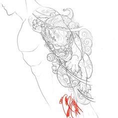 🦁 Artwork by: Bobby Thai Location: Vancouver BC, Canada Artist's IG: Chinese Tattoo Designs, Japanese Tattoo Art, Japanese Sleeve Tattoos, Dragon Tattoo Designs, Tattoo Sleeve Designs, Irezumi Tattoos, Foo Dog Tattoo Design, Tattoo Studio, Fu Dog