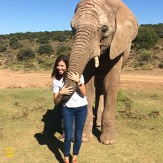 While in Cape Town, Anna made an unlikely animal friend! #safari #southafrica