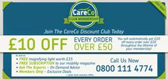 Join the CareCo Club Today! HUGE Savings on ALL Orders,  Priority Helpline Call 0800 111 4774 Today!