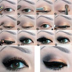 Cat eye how to...concert makeup? With black and gold