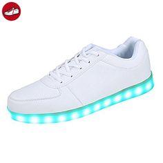 [Present:kleines Handtuch]c2 EU 37, Schuhe Farbwechsel Top USB Sportschuhe 7 mit Leuchtschuhe Turnschuhe High Sneaker c2 Farbe Damen weise JUNG