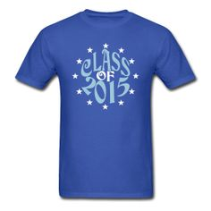 Class of 2015 Light Blue and White Star on a Blue t-shirt. ~ 351