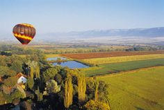 A hot-air balloon ride over the Magaliesberg region, North West - South Africa.