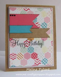 CAS211 ~ Bright Birthday by mepylant - Cards and Paper Crafts at Splitcoaststampers