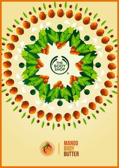 Kaleidoscopic poster from The Body Shop, illustrated by Tom Anders Watkins.  #print #graphic #design