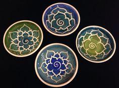 Green Blue Porcelain Lotus Bowl on Etsy, $19.95