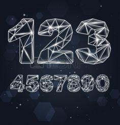 Constellation Geometric Numbers Illustration
