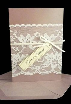 Vintage Lace Wedding Invitation by StunningStationery on Etsy. $8.00, via Etsy.