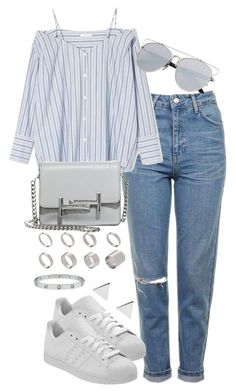 """""""Untitled #2267"""" by theeuropeancloset ❤ liked on Polyvore featuring Topshop, Tod's, ASOS and Jennifer Meyer Jewelry"""