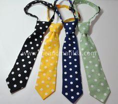 Necktie Polka Dot Childrens Ties by MeandMatilda on Etsy, $22.95, They do customizable ties, bow-ties, and suspenders for weddings