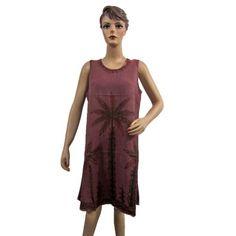 Amazon.com: Boho Dress, Gypsy, Hippie, Women Bohemian Dress, Beach Cover-up, Sleeveless Tank Dress: Clothing  $21.00