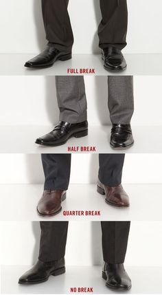An infographic with all you need to know about pants breaks. #menswear