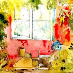 watercolor window created by saori sold at etsy  @fuselama Photos on Instagram