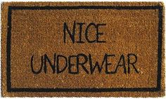 Might have to just make this welcome mat if I can't find it.