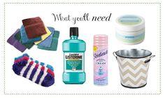 Pinterest Foot Soak with Listerine | hand towels, socks, listerine, shaving cream, lotion or foot cream, a ...