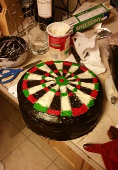 Dart Board Cake... why not? Dart Board, Birthday Dinners, Violets, Joseph, Boards, Birthday Cake, Ice Cream, Baking, Sweet