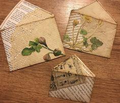 Decorated Envelopes, Handmade Envelopes, Handmade Books, Book Crafts, Paper Crafts, Homemade Journal, Diy Envelope, Paper Tags, Scrapbook Embellishments