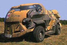 Future Truck, Judge Dredd Car, futuristic vehicle, concept car