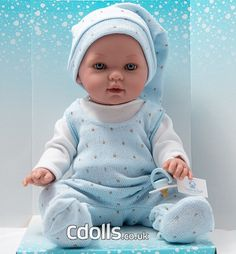 Vestida de Azul Tonino in light blue overall Your Favorite, Pajamas, Dolls, Face, How To Wear, Blue Nails, Pjs, Baby Dolls, Puppet