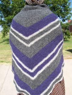 Danish stitch shawl