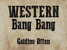 Western Bang Bang free font: stamp distressed with serifs