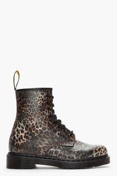 DR. MARTENS Leopard Print Leather 1460 8-Eye Boots www.creativeboysclub.com