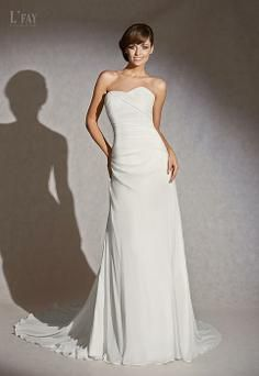 Raco by L'Fay #wedding #dress #sweetheart #strapless