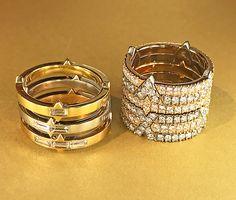 Diamond stack rings by Lindsey Scoggins, photo by @kremkow