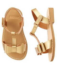 Metallic Bow Sandals (Cute on the Coast: size 9 $10.44)