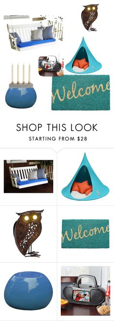 """""""sleep out"""" by chinisa ❤ liked on Polyvore featuring interior, interiors, interior design, home, home decor, interior decorating, Cacoon, Improvements and summeroutdoordining"""