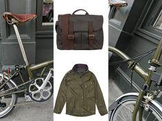 If you're into heritage style and beautiful bikes, the Barbour x Brompton collaboration is going to be right up your street. Capsule Clothing, Capsule Outfits, Heritage Brands, Urban Cycling, Retro Camera, Brompton, Barbour, Bicycles, Collaboration