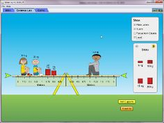 Another great PhET simulation. Some possibilities:     Predict how objects of various masses can be used to make a plank balance.     Predict how changing the positions of the masses on the plank will affect the motion of the plank.     Write rules to predict which way a plank will tilt when objects are placed on it.     Use your rules to solve puzzles about balancing.