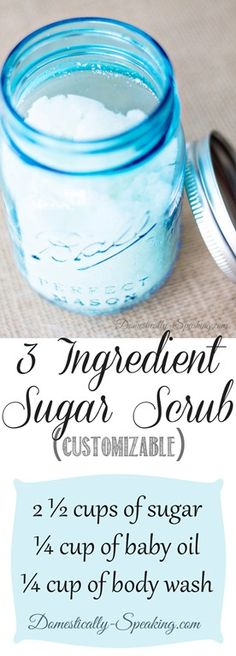 DIY Sugar Scrub. Simple and Easy.