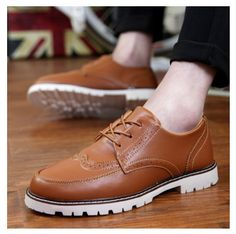 1182c5c0a LIN REI Novo Estilo Britânico Homens Brogue Sapatos Fshion Salto Quadrado  Floral Rendas Até Ankle Boots