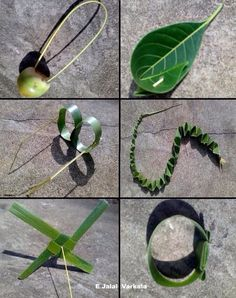 Some toys made from leaves... specially Coconut leaves