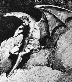 Satan/Lucifer from Paradise Lost, illustrated by Gustave Dore