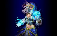 Hearthstone Wallpaper - Jaina v3 by mgbeach.deviantart.com on @deviantART