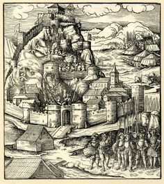 Artist: Beck, Leonhard, TItle: The fortress of Monselice, Date: ca. 1514-1516