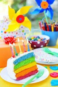 regenboog taart ah
