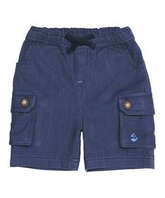 Another great find on #zulily! Blue Stripe Shorts - Infant, Toddler & Boys #zulilyfinds