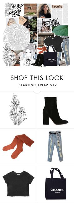 """""""⭐️this is what you came for⭐️"""" by grunge-alien ❤ liked on Polyvore featuring Gianvito Rossi, G.V.G.V., Chanel, winningatlife and sams15challenge"""