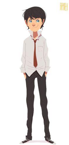 Trendy Boy Vector Character.