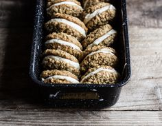 Maple Oatmeal Cookie Sandwiches with Vanilla Bean Cream Cheese Filling — The Whole Bite