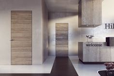 Reception hotel con variante ante Filomuro in rovere