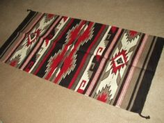 """Western Saddle Blanket Wool Rug 32""""x64"""" (64331)I'm using this at the foot of the guest room bed."""