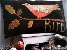 Wool Bird Applique Pillow Kit