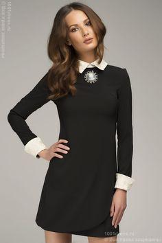 фото черных платьев с белым