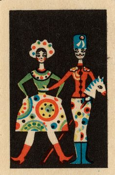 xx..tracy porter..poetic wanderlust...-Russian Matchbox Label | Folk Art